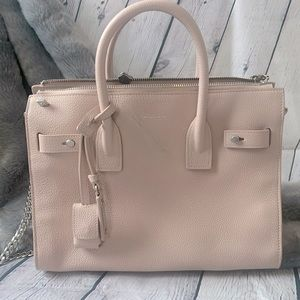 Authentic YSL Calfskin Leather Baby Sac De Jour